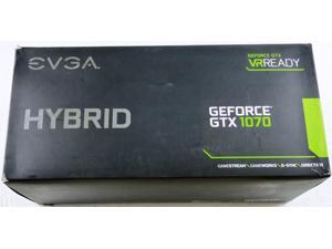 EVGA GeForce GTX 1070 HYBRID GAMING, 08G-P4-6178-KR, 8GB GDDR5, LED, All-In-One Watercooling, DX12 OSD Support (PXOC)