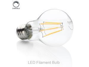 FluxSmart LED Filament Edison Light Bulb - Dimmable Warm White 8W - 60W Equivalent A19 E26/27 Base 2700K (8)
