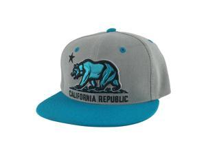 timeless design 0fc5e 4cfed ... top of the world 74d2e 15691  discount california republic snapback hat  cap grey aqua blue 2tone 4f56e 4cc06