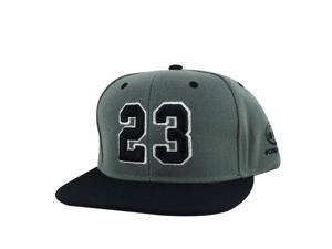 d063e443fc6722 Player Jersey Number  23 2Tone Snapback Hat Cap x Air Jordan - Charcoal  Black