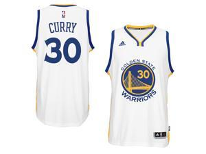 Adidas NBA Golden State Warriors Stephen Curry #30 White Home Adult Swingman Jersey - Large
