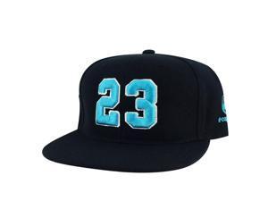 Player Jersey Number  23 Snapback Hat Cap x Air Jordan Grape - Black Aqua  White e32e57945f47