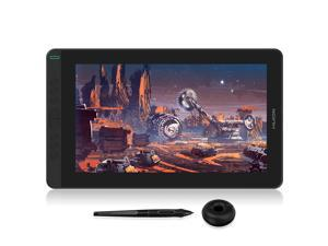 Huion Kamvas 13 Graphics Drawing Monitor 2-in-1 Pen Display & Drawing Tablet Screen Full-Laminated Tilt Function Battery-Free Stylus, 8192 Pen Pressure and 8 Shortcut Keys, Black
