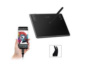 Huion H430P OSU Graphics Tablets Drawing Tablet with Glove and 4 Express Keys, Battery-Free Stylus, Compatible with Mac, PC or Android Mobile