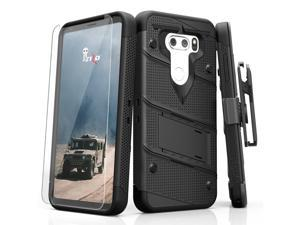 Zizo BOLT Series compatible with LG V30 Case Military Grade Drop Tested with Tempered Glass Screen