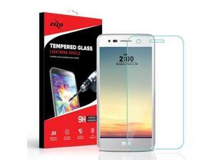 Zizo ION Series compatible with LG Aristo 2 Case Military Grade Drop Tested  with Tempered Glass Screen Protector LG Fortune 2 Case ROSE GOLD CLEAR -