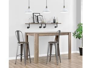 """DHP Luxor 30"""" Metal Barstool with Back, Industrial Chic, High Counter stool, Antique Gun Metal, Set of 2"""