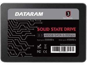 "DATARAM 2.5"" SSD Solid State Drive 480GB 6.0 Gbps SATAIII High Speed Read & Write (SSD-DCXGCC-480G)"