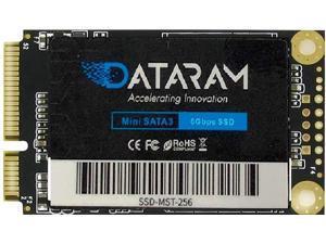DATARAM 256GB mSATA 6Gb/s SSD, Internal Solid State Drive Mini Sata