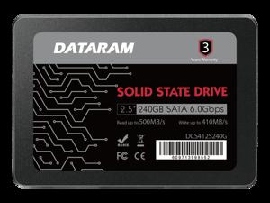 "DATARAM 2.5"" SSD Solid State Drive 240GB 6.0 Gbps SATAIII High Speed Read & Write (SSD-DCXGCC-240G)"