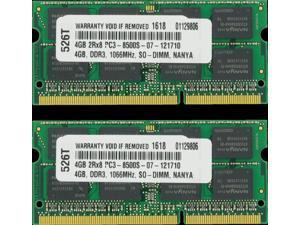 8GB (4GB x 2) DDR3-SDRAM PC3-8500 1066MHz 2rx8 1.5v CL7 204-pin SO-DIMM 8 GB ...