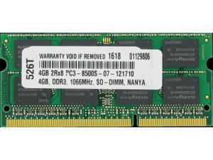 4GB DDR3-SDRAM PC3-8500 1066MHz 2rx8 1.5v CL7 204-pin SO-DIMM 4 GB Memory Ram...