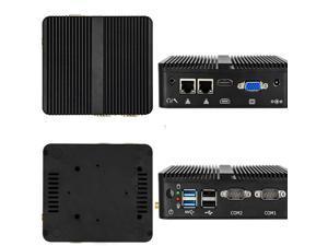 Fanless Mini PC Intel Celeron J1900 Quad-Core Dual LAN 2*COM Windows 10 Ubuntu Wifi  Industrial Office PC HTPC Mini Computer