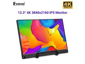 """13.3"""" Portable Monitor FHD 3840 x 2160 4K IPS Type-C LCD Monitor with HDMI Input,Type-C(USB-C),Built-in Speaker,Gaming Monitor for Raspberry Pi PS3/PS4/Xbox 360 Computer PC"""