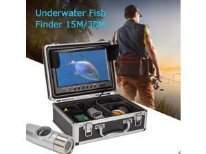 """30m Dual lens 9"""" HD LCD Monitor Fish Finder Underwater Fishing Video Record DVR"""