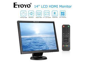 EYOYO 14 Inch 4:3 TFT Gaming Monitor 1024x768 BNC/HDMI/VGA/AV Input 300cd/m²