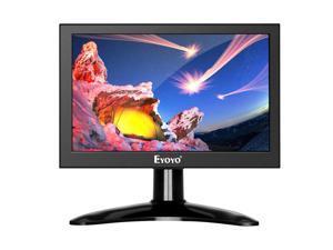 Eyoyo 7 inch Small HDMI LCD Monitor, Portable 1280x800 16:10 IPS Screen Support HDMI/VGA/AV/BNC Inputs