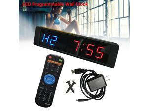 Programmable LED Interval Timer Clock Stopwatch Sports For Fitness Crossfit Gym