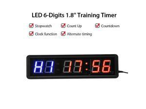 Yescom 8 Large Digital LED Day Clock 6 Alarm Options Dimmable Calendar for Elderly Dementia Home Wall Table White