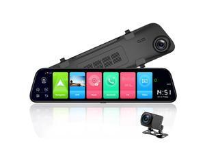 "12"" Rearview mirror 4G Android 8.1 dash camera 2G RAM 32G ROM GPS Navigation car video recorder ADAS WiFi night vision"