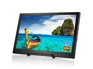 Eyoyo 13.3 inch Portable Monitor HDMI Input Gaming Monitor 1080P HDR IPS Display Compatible with PS3 PS4 Xbox One Xbox 360 Raspberry Pi Wii U Laptop PC DVR w/ Dual Speaker