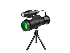 WiFi Monocular 12x50 High Power Prism Monocular, Infrared Night Vision Monocular with Wireless WiFi Connect to Smartphone APP, for Outdoor Trip Night watcing
