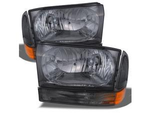 AKKON - For 1999-2004 Ford Excursion F250 F350 F450 F550 Superduty OE Replacement Smoke Headlights Driver/Passenger Lamps Pair