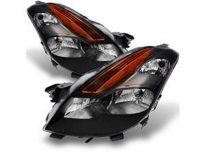 For Nissan Altima 2 Doors Coupe D32 Black Bezel Halogen Type Headlights Front Lamps Replacement Pair