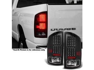 For 2002 2003 2004 2005 2006 Ram 1500   2003-2006 Ram 2500 / 3500 LH + RH Side Black LED Taillights Pair