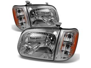For 2005 2006 Toyota Tundra Double   Crew Cab Headlights With Corner Lights Driver + Passenger Side Pair
