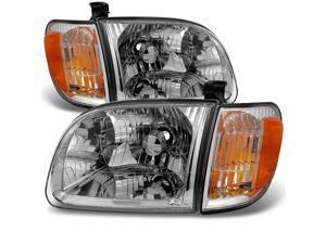 For 2000 2001 2002 2003 2004 Toyota Tundra Regular   Access Cab Headlights w/ Corner Lights LH + RH Pair