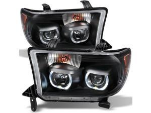 For Toyota Tundra Pickup Black *Exclusive* Halo Projector Ultra Bright SMD DRL LED Headlights Lamps