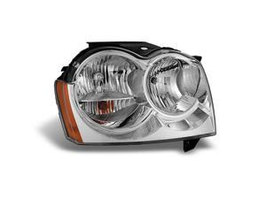 For 2005 2006 2007 Jeep Grand Cherokee RH Passenger Right Side Headlight Headlamp Replacement Assembly