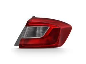 For 2016-17 Chevy Cruze Passenger Side Outer Tail Lights Assembly Chrome Housing Clear Lens