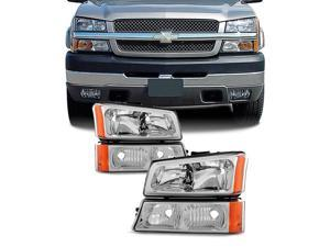 For Chevy Silverado Avalanche OE Replacement Headlights Driver/Passenger Head Lamps Pair New