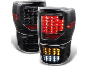 For Toyota Tundra Pickup Black Full LED Reverse Turn Signal Tail Lights Brake Lamps Replacement Pair