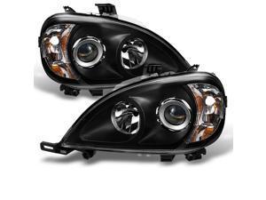 For Mercedes Benz W163 ML320 ML430 M Class Projector Headlights Black Left/Right Headlamps