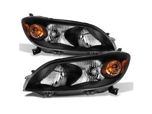 For 2009 2010 2011 2012 2013 Toyota Matrix Driver Left + Passenger Right Side Black Headlights Pair Set