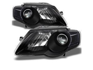 For Volkswagen Passat Replacement Black Bezel Headlights Driver/Passenger Head Lamps Pair New