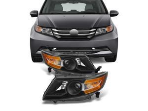 For 2011 2012 2013 2014 2015 Honda Odyssey Halogen Left + Right Head Lights Head Lamps Assembly Set Pair