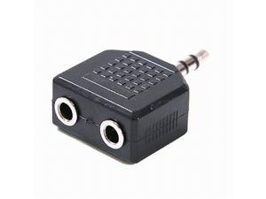 3.5mm Male to Dual 3.5mm Female Jack Audio Splitter Adapter for Speakers and Headphones