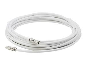 White Digital Audio Coaxial Cable Subwoofer Cable – (S/PDIF) RCA Cable, 40 Feet