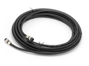 THE CIMPLE CO - 20' Feet, Black RG6 Coaxial Cable - Made in the USA - with rubber booted - weather proof - outdoor rated Connectors, F81 / RF, Digital Coax for CATV, Antenna, Internet, & Satellite