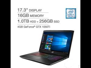 "Asus STRIX GL703GE-IS74 Core™ i7-8750H 2.2GHz 1TB+256GB SSD 16GB 17.3""(1920x1080) BT WIN10HOME Webcam NVIDIA® GTX 1050Ti 4GB Backlit Keyboard"