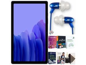 """Samsung 10.4"""" Galaxy Tab A7 32GB Tablet Dark Gray + JLAB Jbuds Sleek 6mm Metal Earbuds Kit"""