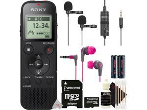 Sony ICD-PX470 Stereo Digital Voice Recorder w/ Built-in USB Voice Recorder + JLAB JBUDS2 Earbuds + BY-M1DM Kit