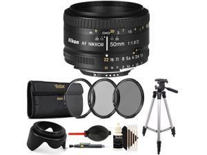 Nikon 50mm f/1.8D AF Nikkor Lens with Accessory Bundle (International Version)