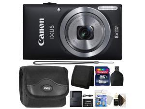 Canon IXUS 185 / ELPH 180 20MP 16x ZoomPlus Black Digital Camera with Top Accessory Kit