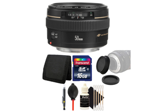 Canon EF 50mm f/1.4 USM Lens  with 16GB Ultimate Accessory Kit for Canon EOS 550D 500D 450D 400D