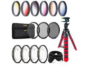 Made by Optics 3 Piece Lens Filter Kit Multi-Threaded 67mm Nikon D70 High Grade Multi-Coated Nwv Direct Microfiber Cleaning Cloth.